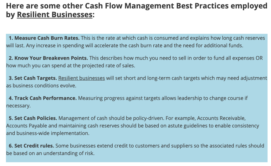 Business Resilience Through Precise Cash Flow Management